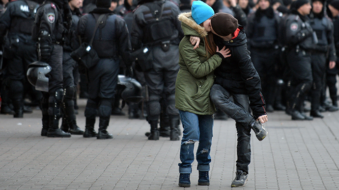 Kiev, November 30, 2013. (AFP Photo / Sergei Supinsky)