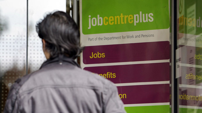 A man enters a Job Center in London (Reuters/Stefan Wermuth)