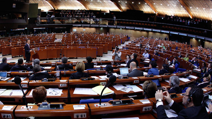 General view of the plenary room of the Parliamentary Assembly of the Council of Europe (Reuters / Vincent
