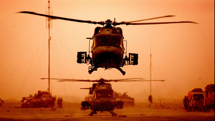 A British Lynx 2 helicopter.(AFP Photo)