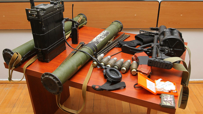 A part of the evidence seized from the Azerbaijani group | Picture from the website of the NKR Ministry of Defense.