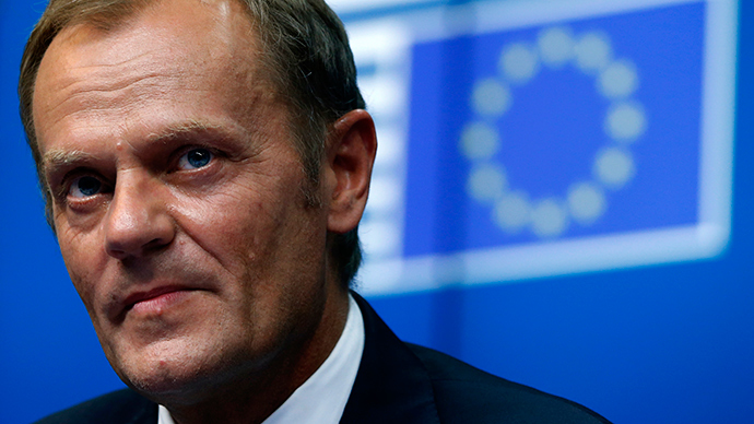 Newly elected European Council President Donald Tusk attends a news conference during a EU summit in Brussels August 30, 2014 (Reuters / Yves Herman)