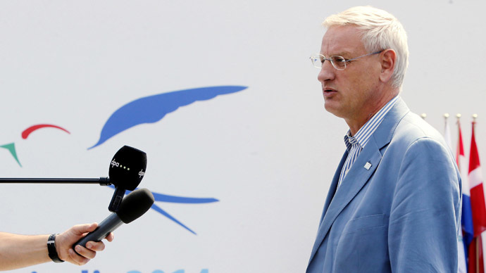'Carl Bildt - slavish supporter of US, not European values'