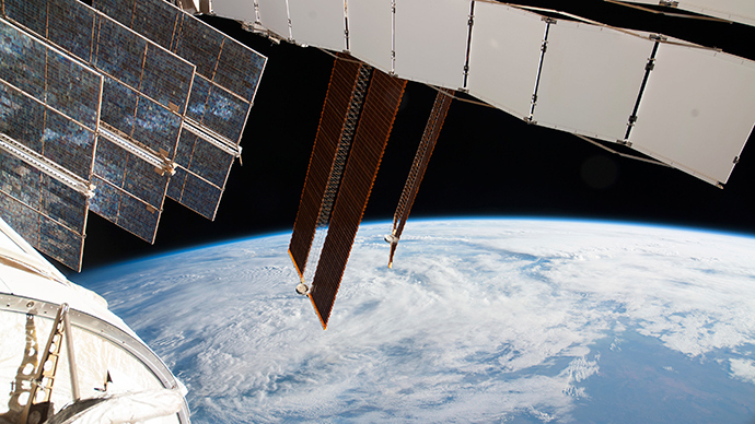 Solar array panels on the Russian segment of the International Space Station (Reuters / NASA)