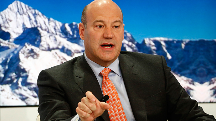 Gary Cohn, President and Chief Operating Officer of Goldman Sachs, speaks at the Ending the Experiment event in the Swiss mountain resort of Davos January 22, 2015 (Reuters / Ruben Sprich)