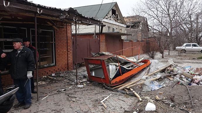 Residential buildings damaged during a shelling of Mariupol (RIA Novosti / Nikita Sergeyev)