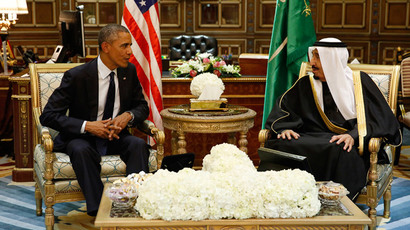 U.S. President Barack Obama (L) meets with Saudi Arabia's King Salman at Erga Palace in Riyadh January 27, 2015.(Reuters / Jim Bourg )