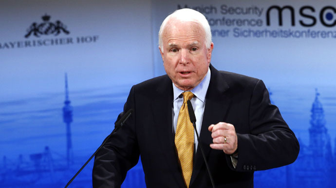 The chair of the Senate Armed Services Committee Senator John McCain (Reuters/Michael Dalder)
