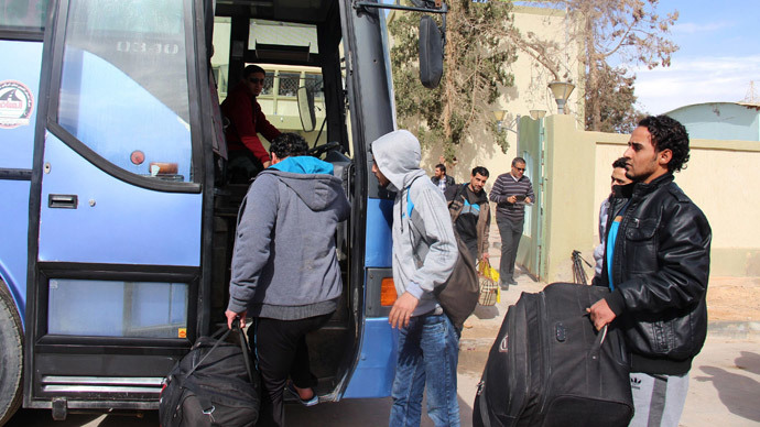Egyptians back from Libya stuck in limbo: to stay or go back?