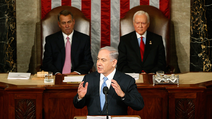 Israeli Prime Minister Benjamin Netanyahu (C) addresses a joint meeting of Congress in the House Chamber on Capitol Hill in Washington, March 3, 2015 (Reuters / Jonathan Ernst)