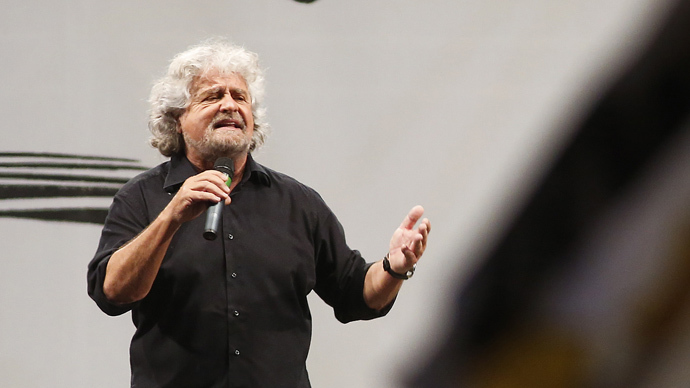 Leader of the Five Star Movement and comedian Beppe Grillo. (Reuters/Remo Casilli)