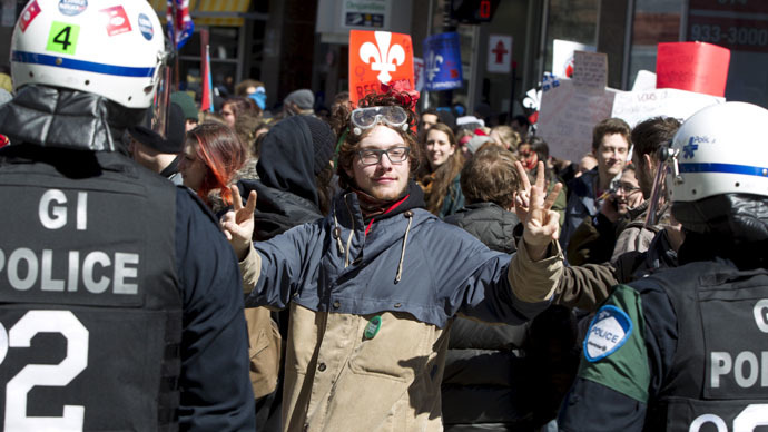 Violent crackdown at Quebec student rally 'only serves to galvanize protests'