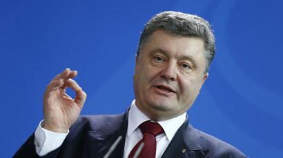 Ukrainian President Petro Poroshenko (Reuters/Axel Schmidt)