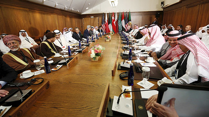 U.S. President Barack Obama hosts a working session of the six-nation Gulf Cooperation Council (GCC) at Camp David in Maryland May 14, 2015. (Reuters/Kevin Lamarque)