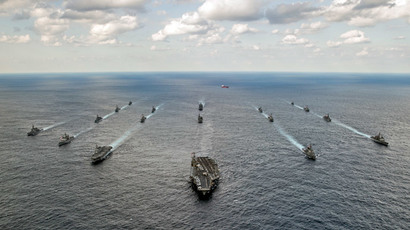 US Navy and Japan Maritime Self-Defense Force ships during Keen Sword 15 military sea exercise south of Japan, November 19, 2014.(Reuters / Chris Cavagnaro)