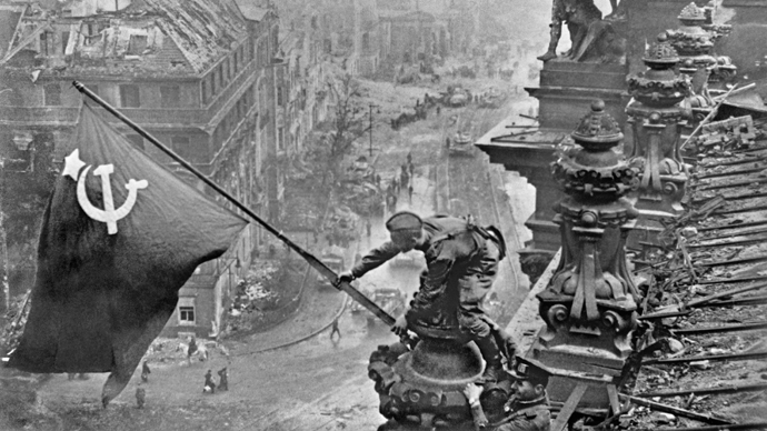 The Great Patriotic War of 1941-1945. Banner of Victory over Berlin, 1945 (RIA Novosti / Haldei)