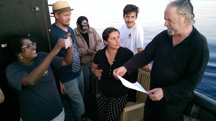 Civil disobedience: Marianne boat leads 'Freedom Flotilla'