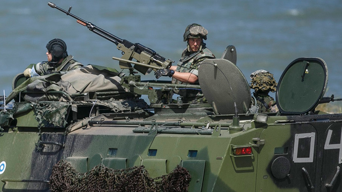 More than five thousand air, sea and ground troops take part in a multinational NATO maritime exercise BALTOPS in the Baltic Sea to demonstrate the resolve of allied and partner forces to defend the Baltic region near Ustka, Poland June 17, 2015. (Reuters / Agencja Gazetai)