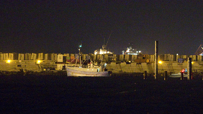 A pro-Palestinian ship named Marianne is escorted to Ashdod port in southern Israel after it was seized by Israeli navy at the Mediterranean sea, Israel June 29, 2015 (Reuters / Amir Cohen)