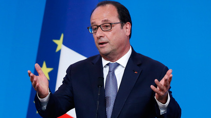 French President Francois Hollande (Reuters / Ian Langsdon / Pool)