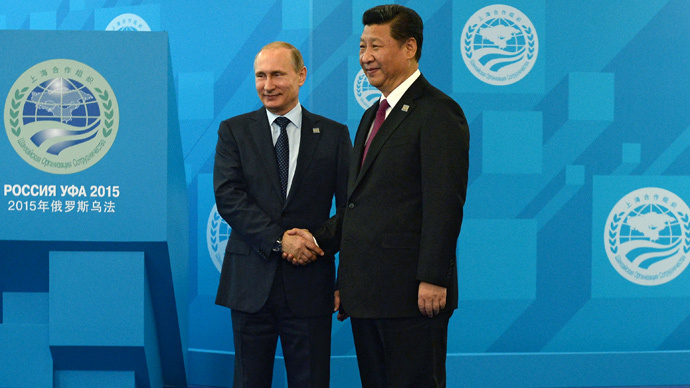 President of the Russian Federation Vladimir Putin (L) and President of the People's Republic of China Xi Jinping (RIA Novosti / Maksim Blinov)