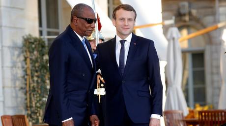 Le président français rencontrait le président guinéen, Alpha Condé le 27 novembre à L'Elysée