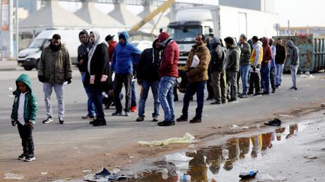 Illustration : des migrants africains en Israël