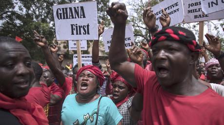 Manifestation à Accra le 28 mars contre un accord de défense controversé conclu entre le Ghana et les Etats-Unis