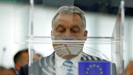 Image d'illustration : le Premier ministre hongrois plaide sa cause à Strasbourg devant le Parlement européen, le 11 septembre 2018
