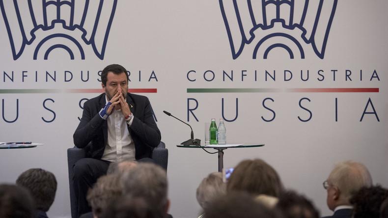 De retour à Moscou, Salvini dénonce encore les sanctions contre la Russie