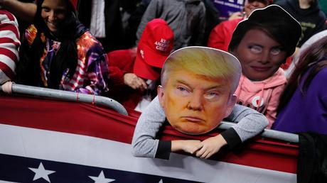 Des soutiens de Donald Trump manifestent dans l'Indiana le 5 novembre, (image d'illustration).