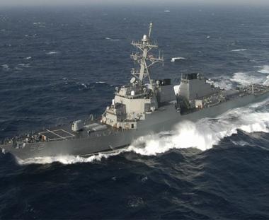 زيارة ودية للطراد الصاروخي الأمريكي إلى ميناء بوتي الجورجي