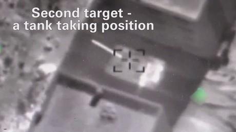 فيديو لقصف إسرائيلي لمواقع سورية في الجولان