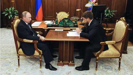 الرئيس الشيشاني رمضان قادروف والرئيس الروسي فلاديمير بوتين