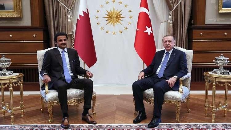 أمير قطر يزور أردوغان