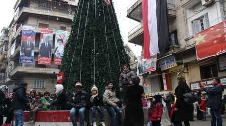أرشيف - حي العزيزية، حلب، سوريا، 31 ديسمبر 2016