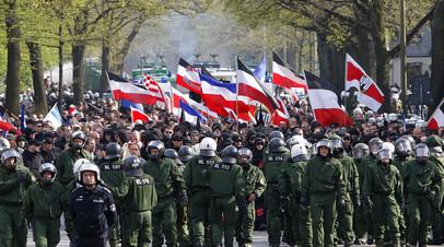 Митинг ультраправой Национал-демократической партии в ФРГ