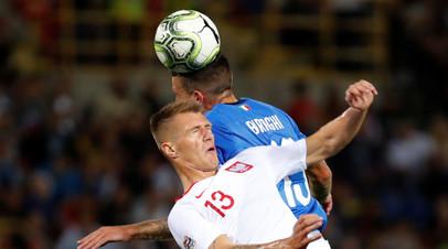 Сборная Италии сыграла вничью с Польшей в матче футбольной Лиги наций