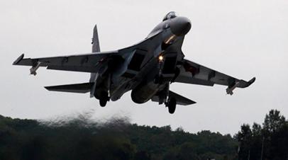 Показательный полёт Су-35С прошёл в преддверии ВЭФ