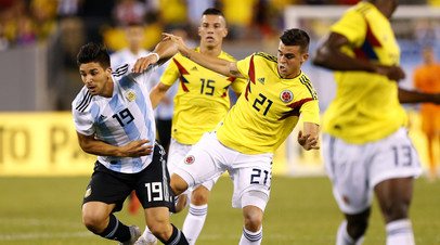 Аргентина сыграла вничью с Колумбией в товарищеском матче по футболу