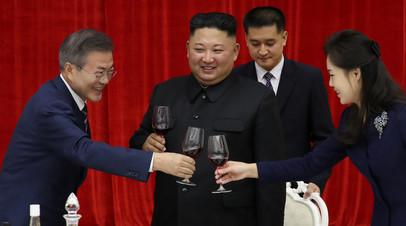 Ким Чен Ын угостил президента Южной Кореи корнями колокольчика