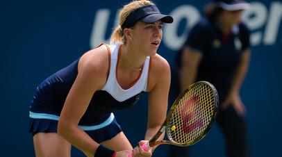 Павлюченкова не смогла реализовать три матчбола и уступила Гарсии в матче турнира WTA в Токио