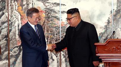 Ким Чен Ын поблагодарил Мун Чжэ Ина за его усилия к построению мира