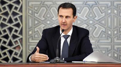 «Выполняли доблестные задачи»: Асад выразил соболезнования семьям погибших при крушении Ил-20 в Сирии