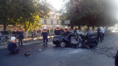Четыре человека погибли при столкновении автомобиля с катком в Тамбове