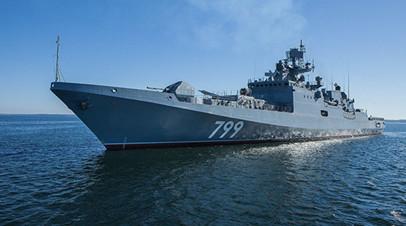 Фрегат ЧФ возвращается в Севастополь после выполнения задач в Средиземном море