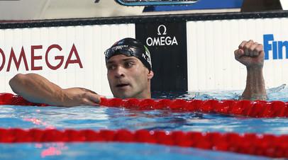 Бразильский пловец установил мировой рекорд на дистанции 50 метров баттерфляем
