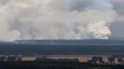 Опубликовано видео с места взрыва на складе под Черниговом