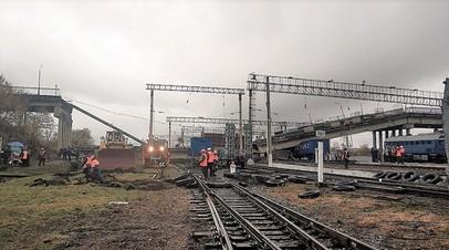 Движение поездов на станции в Приамурье после обрушения моста частично восстановлено