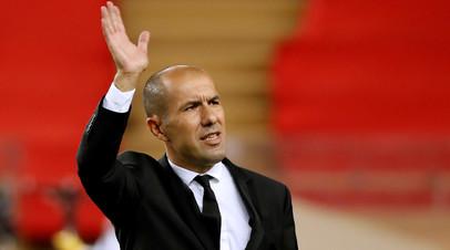 Жардим отправлен в отставку с поста тренера «Монако», за который выступает Головин